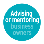 Advising or mentoring business owners