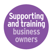 Supporting and training business owners