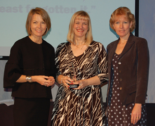 Pictured from left: Mary Nightingale, broadcast journalist, Julie Stanford and Jane Priddis