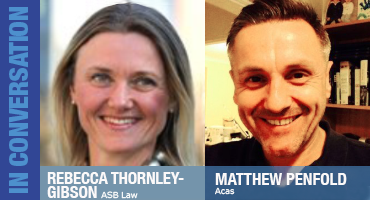 Rebecca Thornley-Gibson and Matthew Penfold