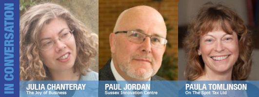 Julia Chanteray, Paul Jordan and Paula Tomlinson are Julie's guests