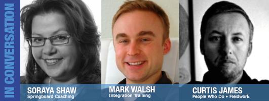 Soraya Shaw, Mark Walsh and Curtis James are Julie's guests