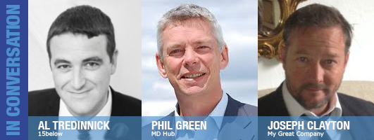 Al Tredinnick, Phil Green and Curtis James join Julie Stanford on Essential Business Radio